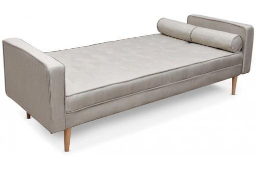 Canapé convertible scandinave 3 places tissu beige Yamasa