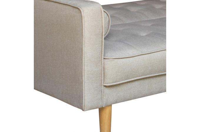 Canap convertible scandinave 3 places tissu beige yamasa - Canape beige pas cher ...