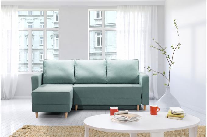 canap d 39 angle gauche convertible tissu vert lotus canap d 39 angle pas cher. Black Bedroom Furniture Sets. Home Design Ideas