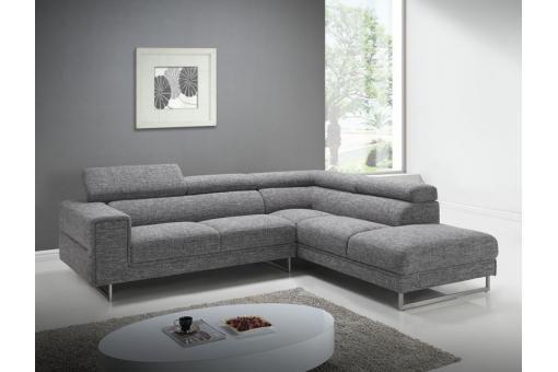 canap d 39 angle droit gris chin en tissu bartolo canap. Black Bedroom Furniture Sets. Home Design Ideas