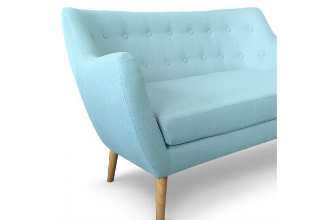 canap scandinave 2 places tissu bleu riska canap 2 places pas cher. Black Bedroom Furniture Sets. Home Design Ideas