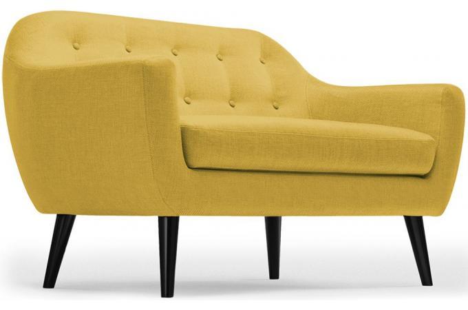 canap scandinave 2 places tissu jaune fidelio canap 2 places pas cher. Black Bedroom Furniture Sets. Home Design Ideas