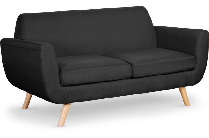 canap scandinave 2 places tissu noir telia canap 2 places pas cher. Black Bedroom Furniture Sets. Home Design Ideas