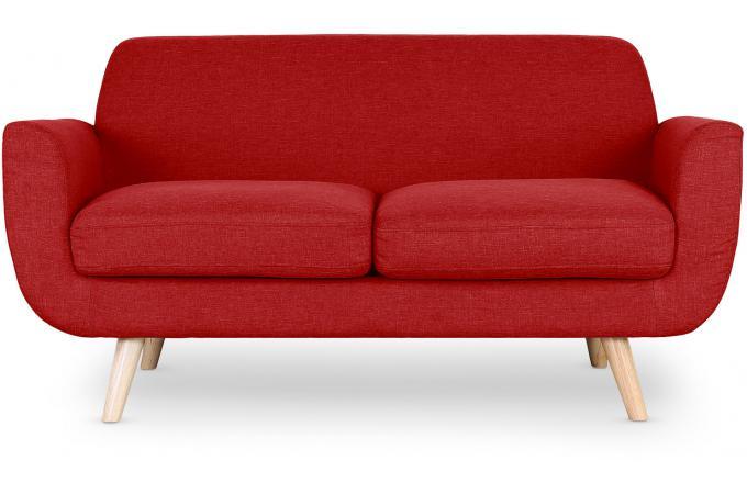 canap scandinave 2 places tissu rouge telia canap 2 places pas cher. Black Bedroom Furniture Sets. Home Design Ideas