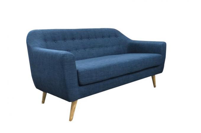 canap scandinave 3 places tissu bleu fidelio canap 3 places et plus pas cher. Black Bedroom Furniture Sets. Home Design Ideas
