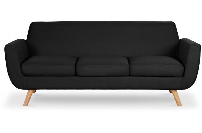 canap scandinave 3 places tissu noir telia canap 3 places et plus pas cher. Black Bedroom Furniture Sets. Home Design Ideas