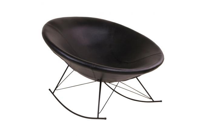 Fauteuil a bascule noire chill fauteuil design pas cher - Fauteuil a bascule design ...