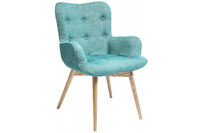 chaise avec accoudoirs retro h tre turquoise chaise. Black Bedroom Furniture Sets. Home Design Ideas