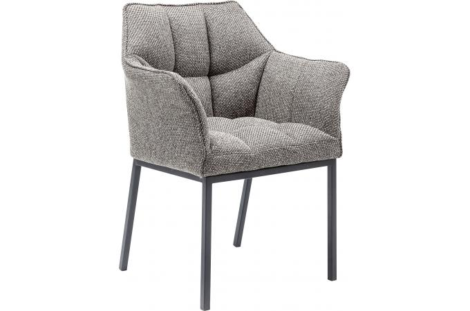 Chaise avec accoudoirs thinktank chaise design pas cher for Chaise grise design