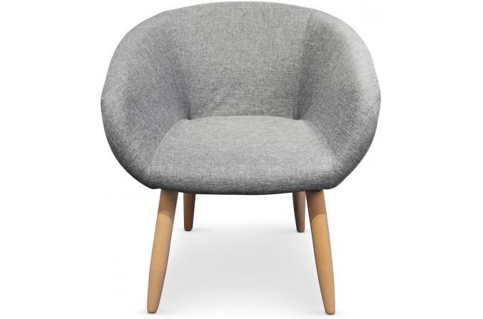 Fauteuil Style Scandinave Gris BLONDIE Chaise Design Pas Cher