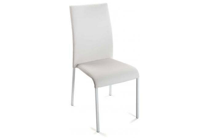 chaise blanche similiflorrie chaise design pas cher. Black Bedroom Furniture Sets. Home Design Ideas
