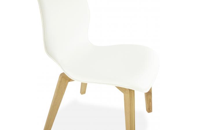 chaise design pied bois fabulous design chaise coque blanche pied bois u ciabiz download image. Black Bedroom Furniture Sets. Home Design Ideas