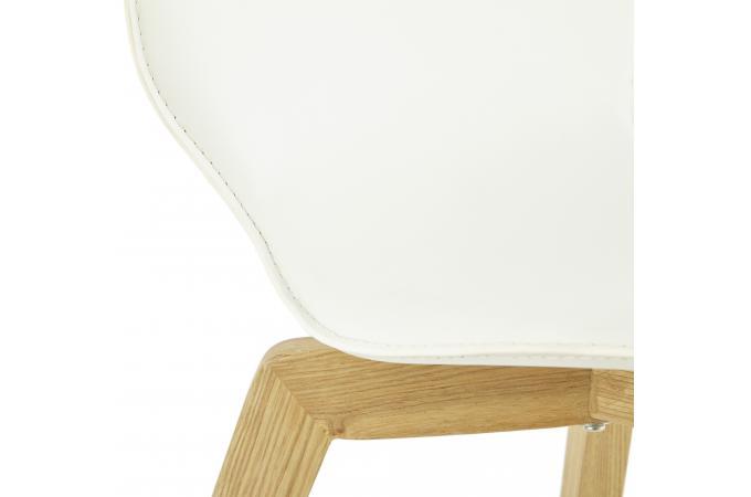 bois Chaise Design Cher blanche pieds Chaise Pas FuTclKJ351
