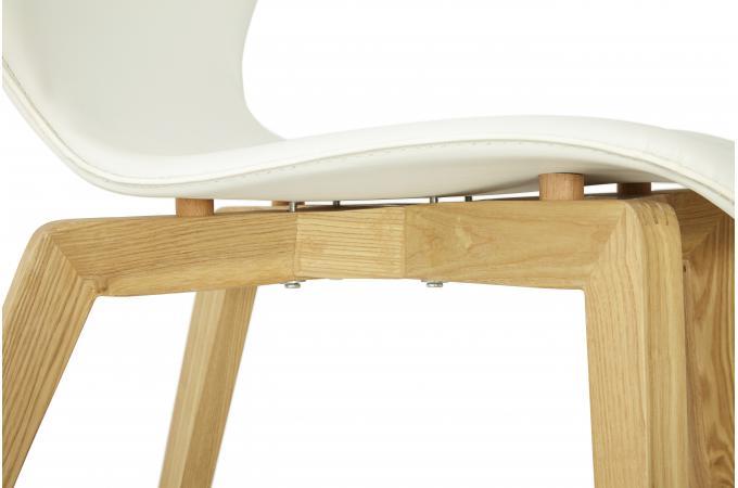 chaise blanche pieds bois - chaise design pas cher - Chaise Blanche Pied En Bois