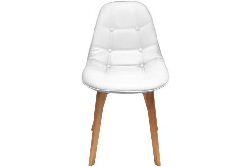 chaise capitonn e blanche lanzzo chaise design pas cher. Black Bedroom Furniture Sets. Home Design Ideas
