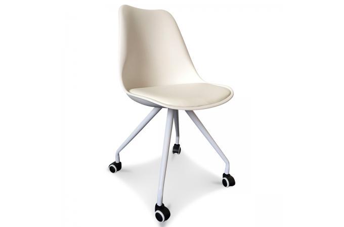Chaise De Bureau à Roulettes Blanc Lorca Fauteuil Chaise De