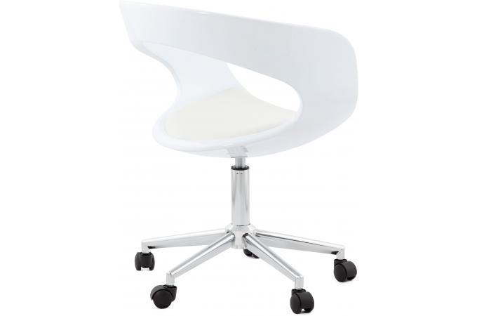 chaise de bureau blanche pivotante aussi fauteuil chaise de bureau pas cher. Black Bedroom Furniture Sets. Home Design Ideas