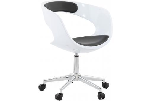 chaise de bureau blanche et noire pivotante aussi fauteuil chaise de bureau pas cher. Black Bedroom Furniture Sets. Home Design Ideas