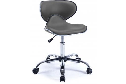 chaise de bureau rehaussable grise gladys fauteuil chaise de bureau pas cher. Black Bedroom Furniture Sets. Home Design Ideas