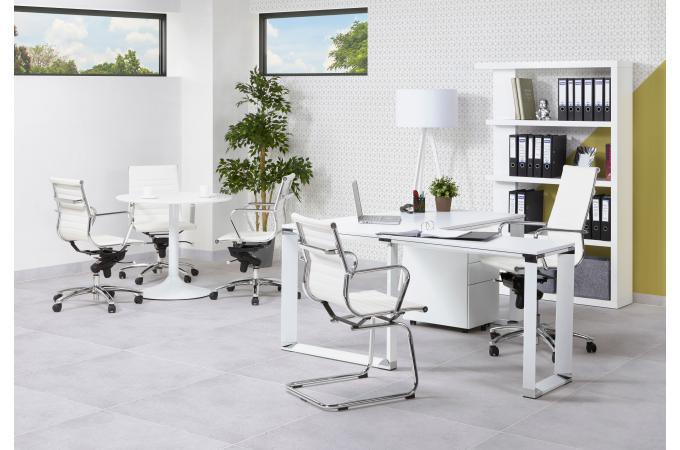 chaise de bureau simili blanc fauteuil chaise de bureau pas cher. Black Bedroom Furniture Sets. Home Design Ideas