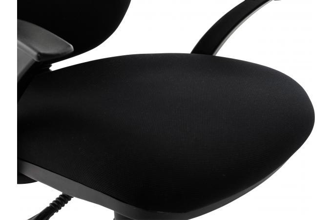 Chaise de bureau tissu noir design boop fauteuil chaise de