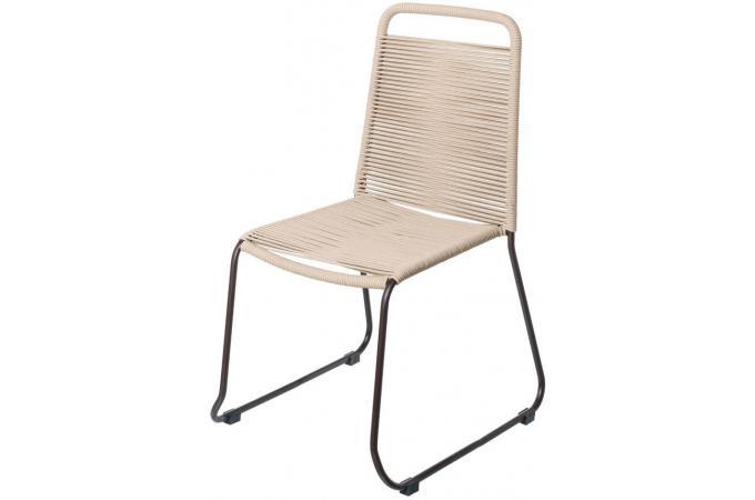 chaise de jardin empilable corde beige andrea mobilier de jardin pas cher. Black Bedroom Furniture Sets. Home Design Ideas