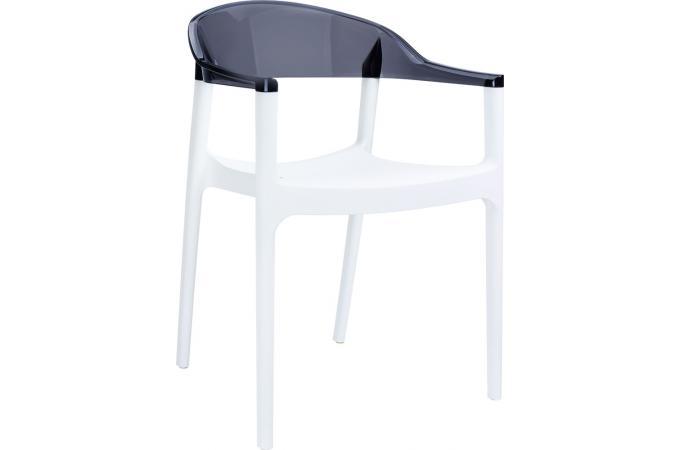 Chaise Design Blanche Bicolore Transparente RAVI