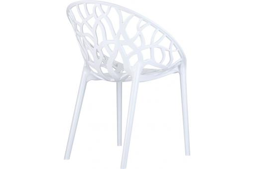 chaise design blanche laqu e cinnamon chaise design pas cher. Black Bedroom Furniture Sets. Home Design Ideas