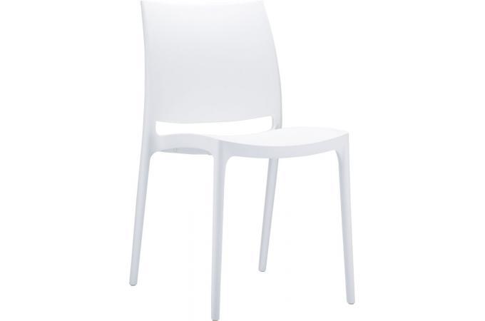 chaise design blanche mimi chaise design pas cher. Black Bedroom Furniture Sets. Home Design Ideas