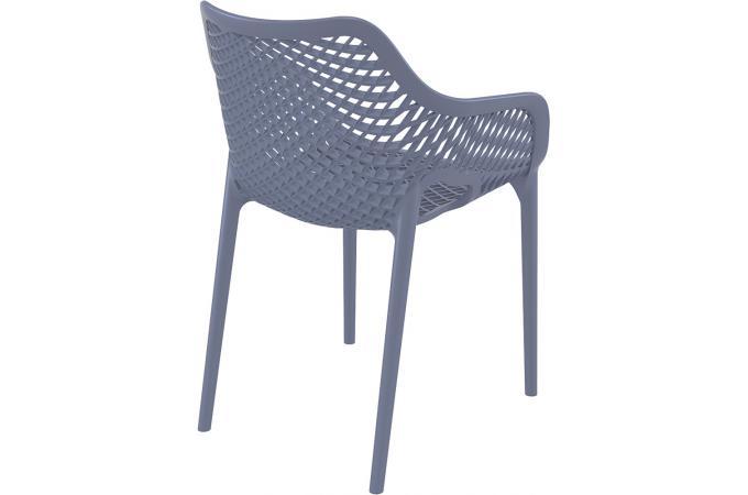 chaise design grise anthracite aeria chaise design pas cher. Black Bedroom Furniture Sets. Home Design Ideas