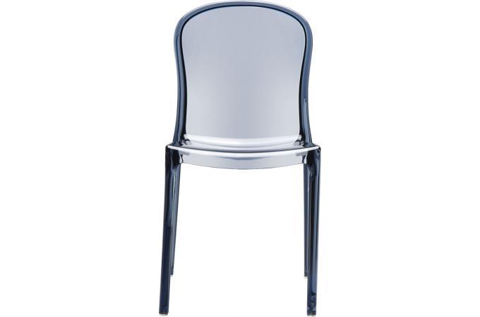 chaise design grise anthracite transparente viva chaise design pas cher. Black Bedroom Furniture Sets. Home Design Ideas