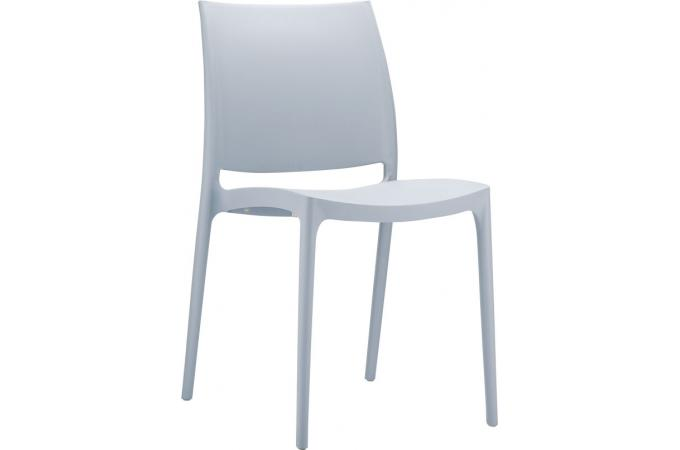 chaise design grise argent mimi chaise design pas cher. Black Bedroom Furniture Sets. Home Design Ideas