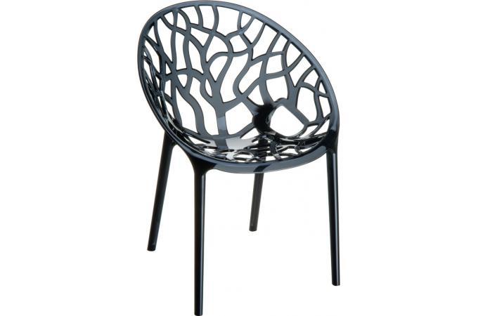 Chaise Design Noire Transparente CINNAMON