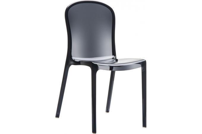 chaise design noire transparente viva chaise design pas cher. Black Bedroom Furniture Sets. Home Design Ideas