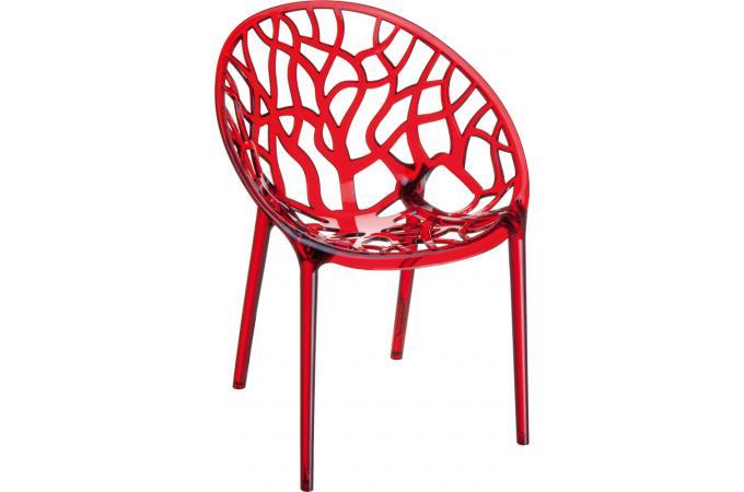 Chaise Design Rouge Transparente CINNAMON