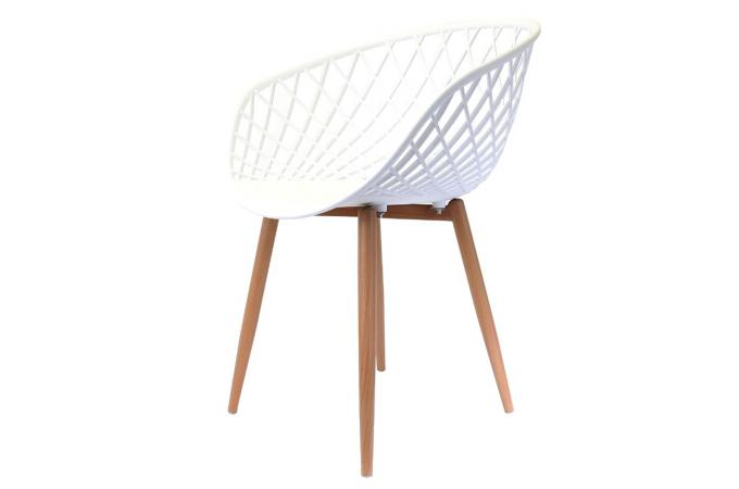 Chaise design blanche tonus chaise design pas cher for Chaise blanche design pas cher
