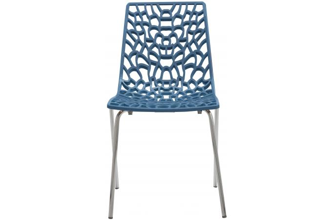 chaise design bleu traviata chaise design pas cher