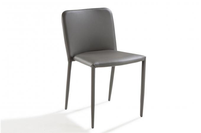 chaise design grise sergen chaise design pas cher. Black Bedroom Furniture Sets. Home Design Ideas