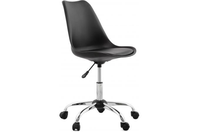 chaise design noire pivotante depp chaise design pas cher. Black Bedroom Furniture Sets. Home Design Ideas