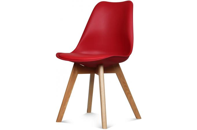 Chaise design style scandinave rouge esben chaise design for Chaise rouge design pas cher