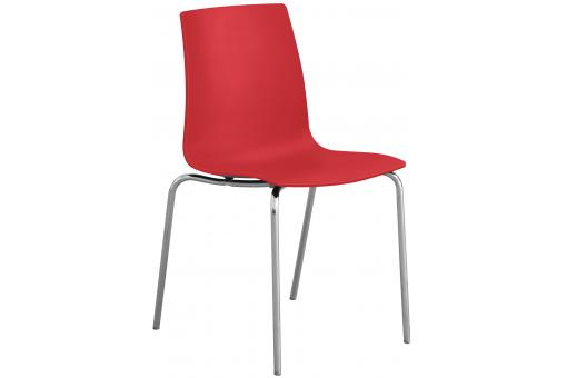 Chaise Design Rouge Mat OLYMPIE