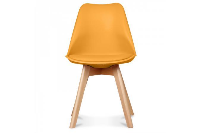 Chaise Design Style Scandinave Miel ESBEN