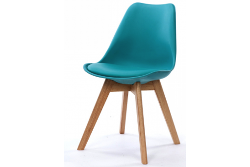 Chaise Design Style Scandinave Turquoise ESBEN - Chaise design