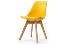 Chaise Design Style Scandinave Jaune ESBEN - Chaise design