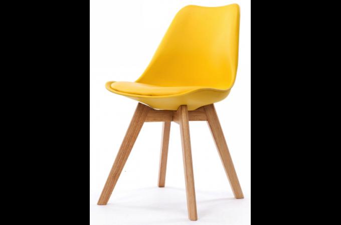 Chaise Design Style Scandinave Jaune ESBEN
