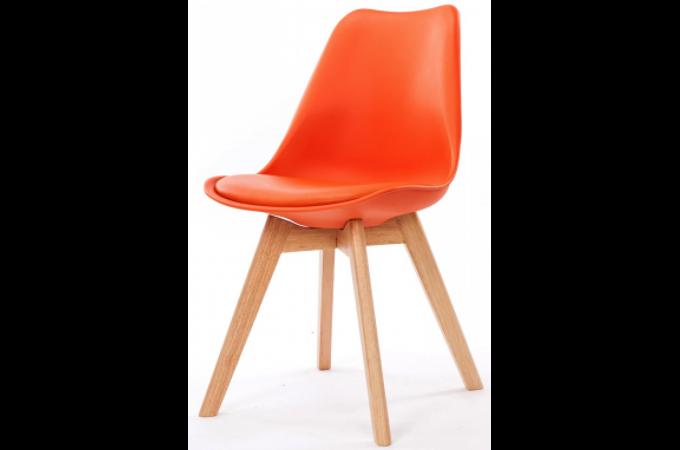 chaise design style scandinave orange esben chaise. Black Bedroom Furniture Sets. Home Design Ideas