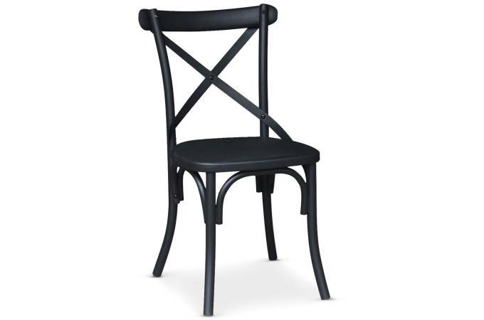 chaise en m tal noir mat troquet chaise design pas cher. Black Bedroom Furniture Sets. Home Design Ideas
