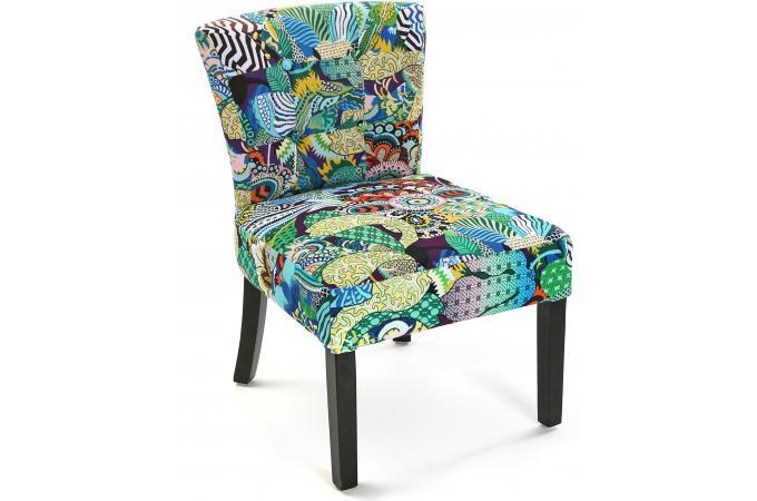 Chaise en tissu patchwork tropical chaise design pas cher for Chaise en tissu pas cher