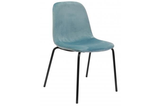 chaise en velours bleu clair velvito chaise design pas cher. Black Bedroom Furniture Sets. Home Design Ideas