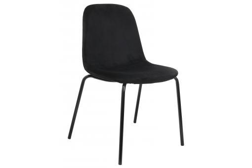 chaise en velours noir velvito chaise design pas cher. Black Bedroom Furniture Sets. Home Design Ideas